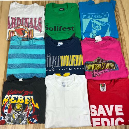 Vintage 9 T Shirt Reseller Wholesale Lot Single St