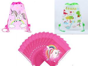 Мультфильм пони, Единорог нетканого шнурок сумка детский плавательный рюкзак милый подарок