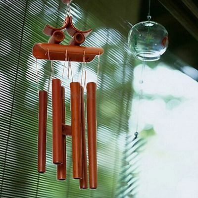 Handmade Amazing Grace Deep Resonant Relaxing Bamboo Wind chime Gifts 60x13.5cm