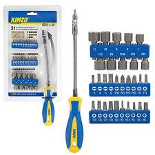 KINZO Set de clés de douilles embouts 31 pcs flexible acier vanadium magnétique