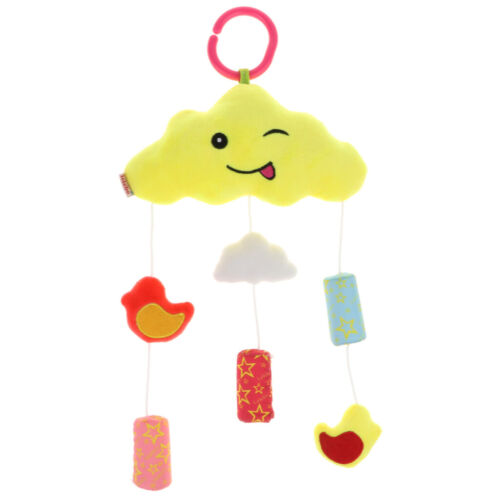 Baby Toys Soft Hanging Rattle Toy Plush Cloud Moon Wind Chime for Newborn