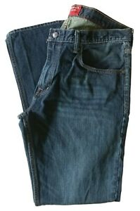 Arizona-Jean-Co-Men-039-s-Dark-Denim-Bootcut-Jeans-Pants-36-x-32-Perfect
