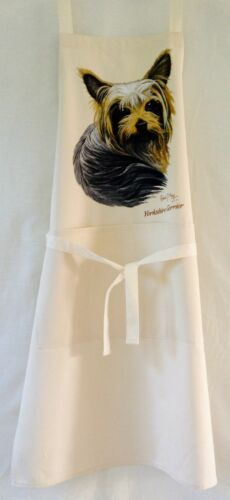 Yorkshire Terrier Yorkie RM Dog Natural Cream Cotton Bib Apron Baking Cooking