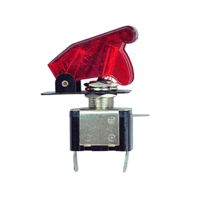 1x DC12V 20A Red Indicator 3Pin SPST 2 Position On//Off Car Toggle Switch ASW-14D