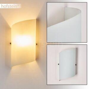 weisse Glas Wand Lampen Flur Dielen Licht Effekt Wohn Schlaf Zimmer Beleuchtung