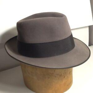 750ff7a4 Image is loading Vintage-NapoliFedora-Hat-Napoli-Fedora-Napoli-Italy-Size-