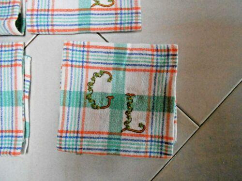 Monogram G L Details about  /6 Antique French Cotton Towels