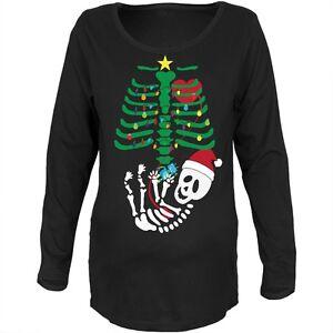 maternità Skeleton T in morbido lunghe a con di Robot shirt maniche albero cotone Natale Baby xw0Zqf