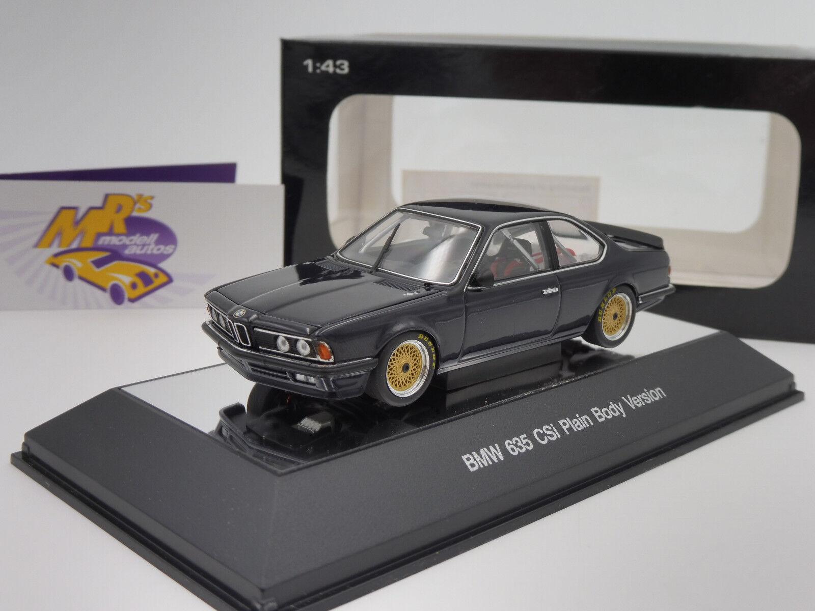 AUTOart 68444   BMW 635 CSi Baujahr 1984 Plain Body Version   dunkelblau   1 43  | Online Store