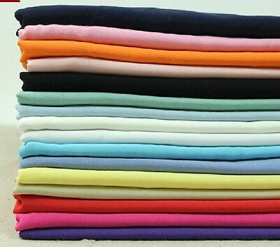 "Good Quality by the yard Very Soft Rayon Fabric Solid Color 55"" in 15 colors"