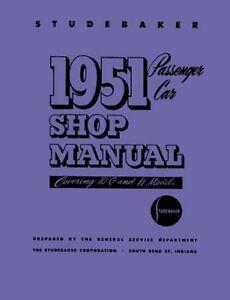 image is loading 1951-studebaker-shop-service-repair-manual-book-engine-