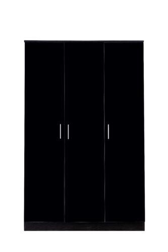 REFLECT High Gloss Black /& Black Oak Bedroom Furniture Wardrobe Chest Bedside