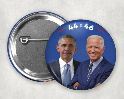 """44 /& 46 Obama and Joe Biden Button 2020 pin 2.25/"""""""