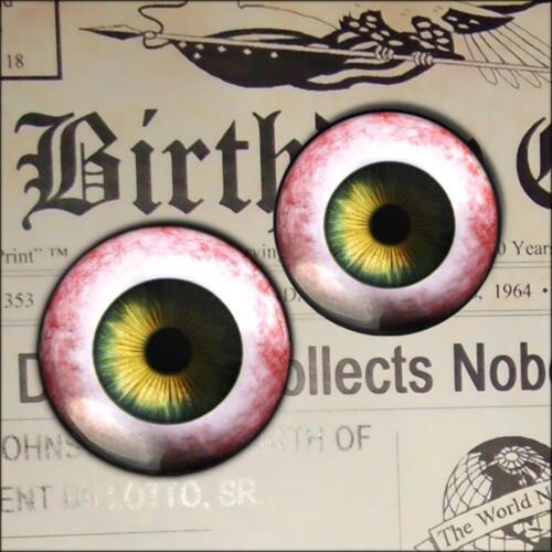 10mm Glass Eyes Hazel Green Human Doll Reborn Eyeball Sculpture Craft Set USA