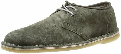 Clarks Originals Jink Men's Suede Leather Low Top Round Toe Shoes 26106717 Green