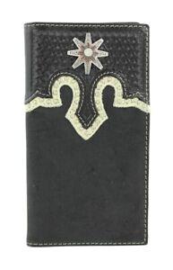 Spur-ROWEL-Concho-Rodeo-WALLET-BLACK-Leather-Tony-Lama-Cowboy-5171601-16