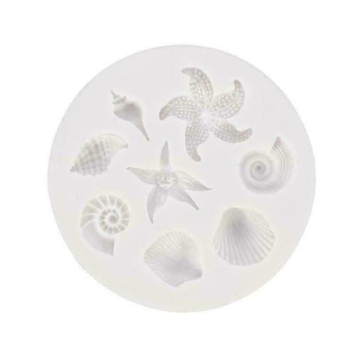 DIY 3D Cookies Chocolate Baking Mould Silicone Seashell Conch Mold Fondant Y4Y5