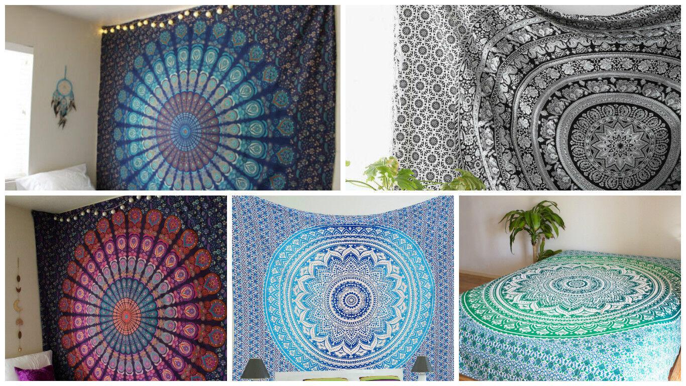 Mandala Tapestry Wall Hanging Throw bedding Cotton Bedspread Wholesale 5pcs Lot