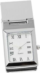 Square-White-Watch-Stainless-Steel-Hinged-Money-Clip