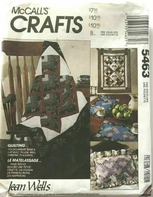 McCalls Crafts Sewing Patterns Uncut Home Decor Place Mats Wall Hanging