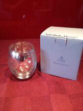 """PartyLite Teelichthalter, aus Glas mit Blattsilber """"Mercury"""""""