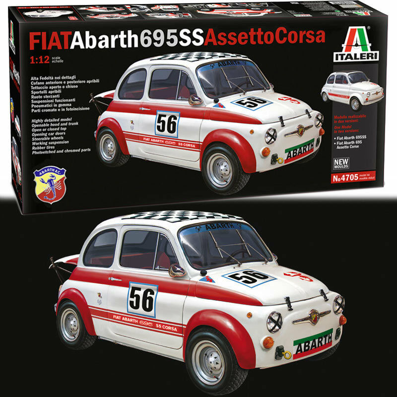 ITALERI 4705 Fiat Arbath 695 SS Assetto Corsa 1 24 Car Model Kit