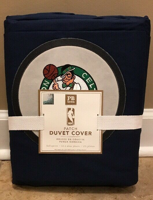 Nouveau POTTERY BARN Teen NBA patch complet Reine Couette Boston Celtics