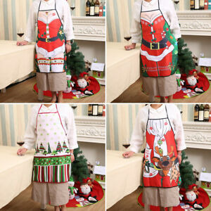 Unique Christmas Apron Kitchen Cooking Party Xmas Women Gifts Adult ...