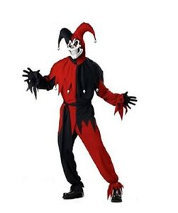 California-Costumes-Evil-Jester-Adult-Costume-Red-Black-2-Sizes