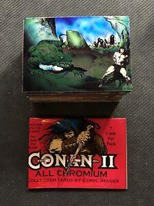 1994-COMIC-IMAGES-CONAN-II-CHROMIUM-COMPLETE-90-CARD-SET