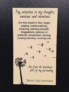 """Wallet size magnet with soul sentiment practice gleaned from """"Seat of the Soul""""."""