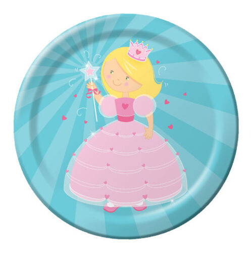 Fairytale Princess Dinner Plate 8 Piece Party Decoration