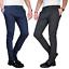 Pantalone-Uomo-Chino-Slim-Fit-Elegante-Quadri-Principe-di-Galles-Primaverile miniatura 1