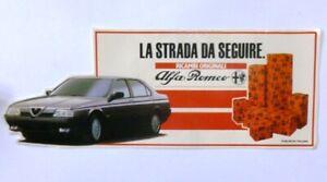 VECCHIO ADESIVO AUTO / Old Car Sticker ALFA ROMEO ALFA 164 (cm 21 x 8)