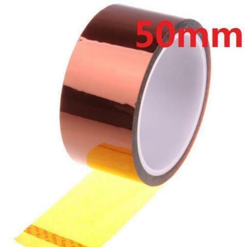 50mm 100ft  Tape BGA High Temperature Heat Resistant Polyimide Gold ^