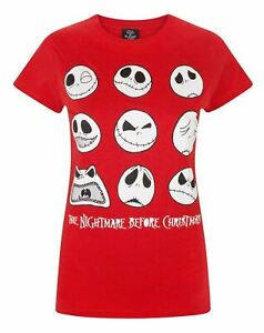 Nightmare-Before-Christmas-Jack-Expressions-Women-039-s-T-Shirt