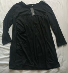 Anself-Women-039-s-Black-Front-Pocket-Jersey-Dress-Size-5XL-New-With-Tags