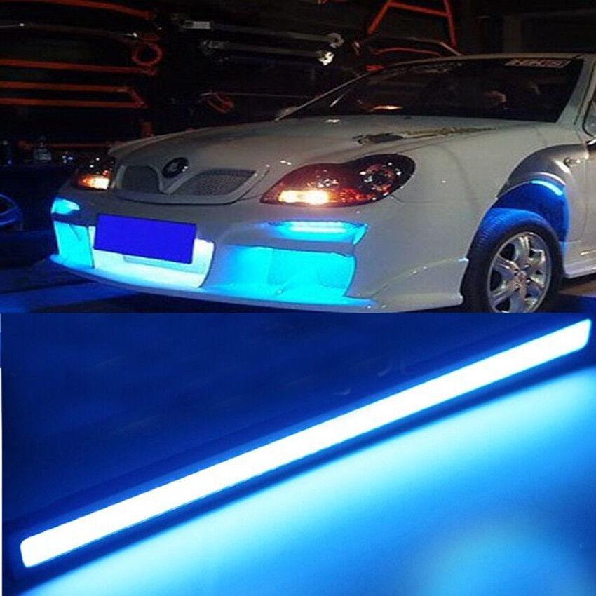 ice blue  led drl strip lights car truck boat interior cm  dash floor ebay
