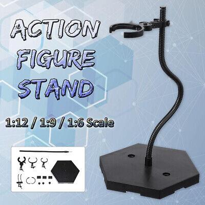 1:6 Gundam Model 1:9 Black Action Figure Holder Dynamic Base Stand For 1:12