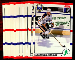 1990-91-Score-Alexander-Mogilny-RC-20-Card-Lot-French-Version-HALL-OF-FAMER