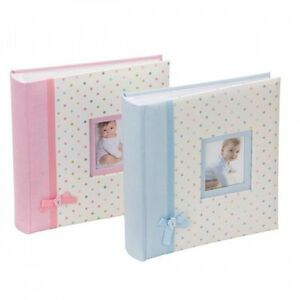 Large Baby Girl/Boy Pink/Blue Ribbon Traditional Photo Album/500 ...