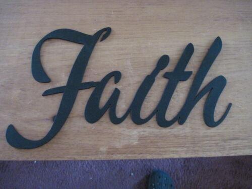 Faith-Black Wrought Iron Wall Art Metal Home Decor Primitive