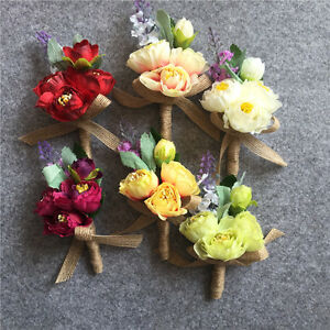 Diy wedding artificial flower corsage groom boutonniere suit party image is loading diy wedding artificial flower corsage groom boutonniere suit mightylinksfo