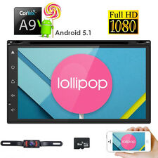 GPS Navigation Android 2Din Car DVD Radio Stereo Player WiFi 3G BT Tablet+CAMERA
