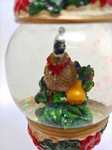 Details About Kirkland Snow Globe Ornament Bird Costco Holiday Christmas