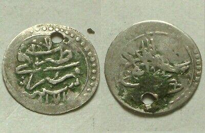 Mustafa 1757AD//81 RARE Islamic silver Para coin//Ottoman//Turkey ISTAMBUL 1172AH