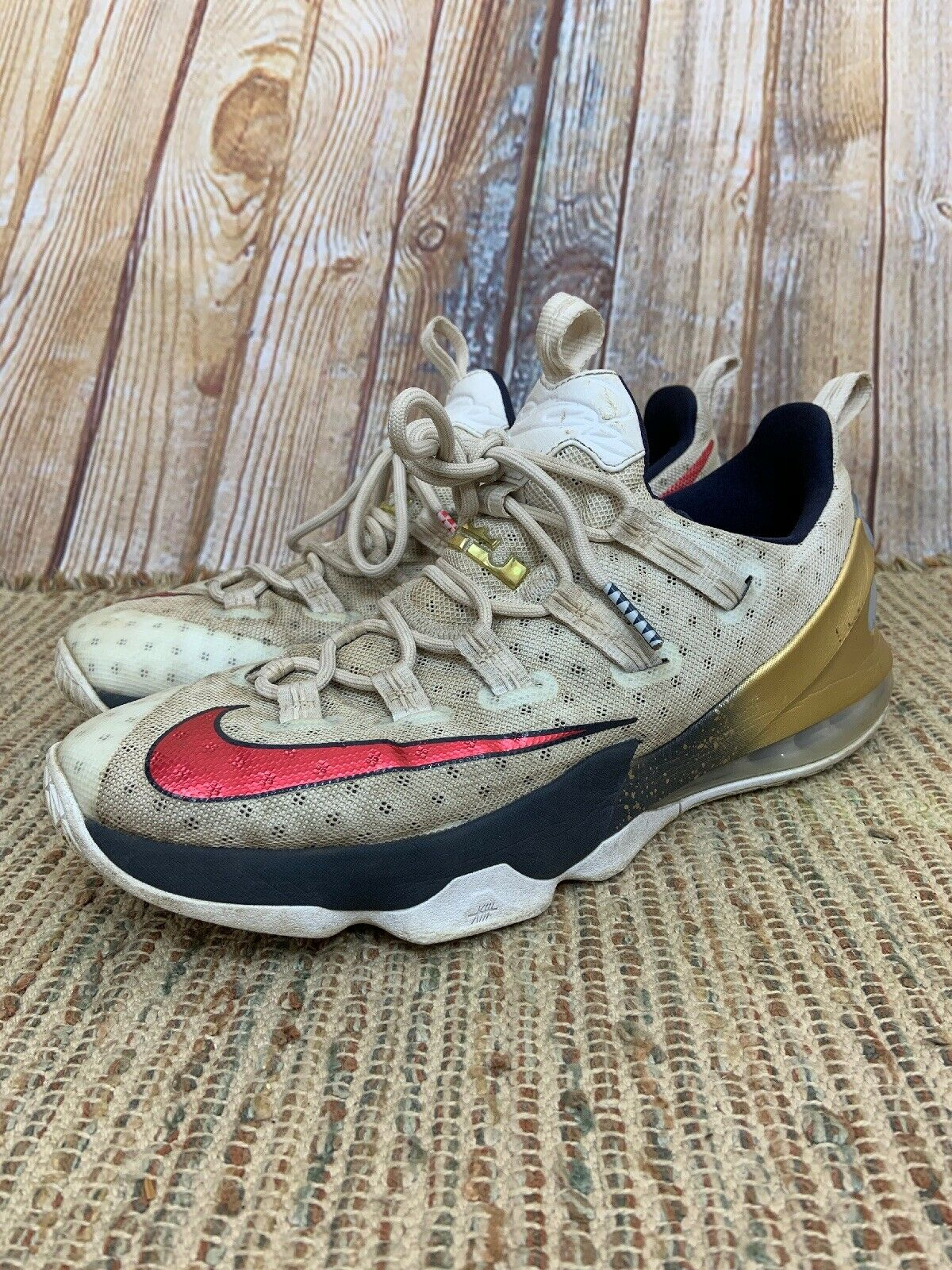 507b1a35bf Nike Lebron XIII 13 Mens Sneakers Red White bluee gold Olympic 831925 164  Size 12 ncvfta9927-Athletic Shoes