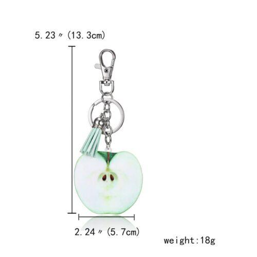Hot Pineapple Fruit Horse Dog Cat Animal Tassel KeyChain Keyring Bag Accessories