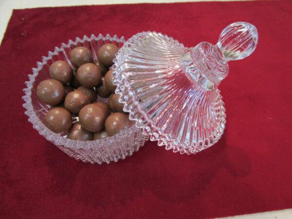 , Bicchieri, Bomboniere In Vetro Scanalato - Ballotin In Vetro - Stile Antico