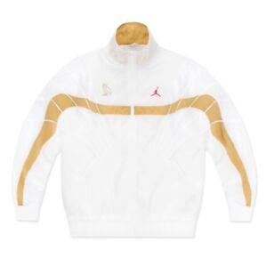 e1ca1535c22362 Jordan X OVO Flight Jacket White Size XL Drake Track Jacket